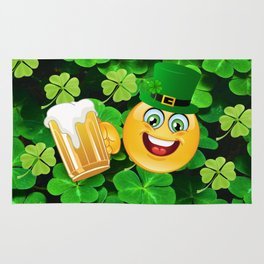 St. Patrick Day Emoticon Rug
