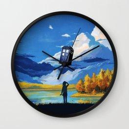Tardis Girl Art Painting Wall Clock