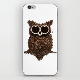 Coffee Owl iPhone Skin
