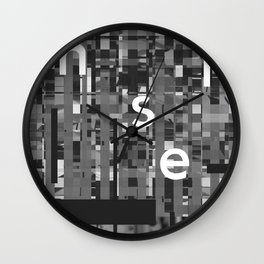 EXIT: existentialist quotes, Fanon Wall Clock