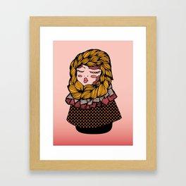 Andrea's Scarf Framed Art Print