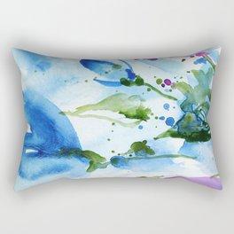 Bli-bla-blue Rectangular Pillow