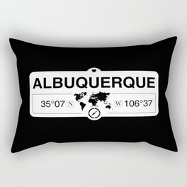 Albuquerque New Mexico GPS Coordinates Map Artwork Rectangular Pillow