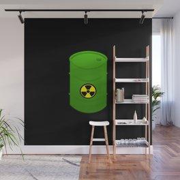 atomic waste barrel Wall Mural