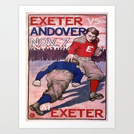 Vintage poster - Exeter vs. Andover College Football Art Print