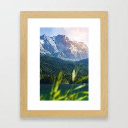 Grass Mountain View (Color) Framed Art Print