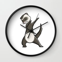 Funny Dabbing Ferret Pet Dab Dance Wall Clock