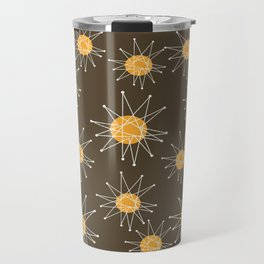 Mid-Century Atomic Starburst Pattern Travel Mug