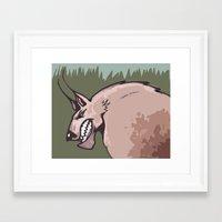 werewolf Framed Art Prints featuring Werewolf by Jamie Clayton