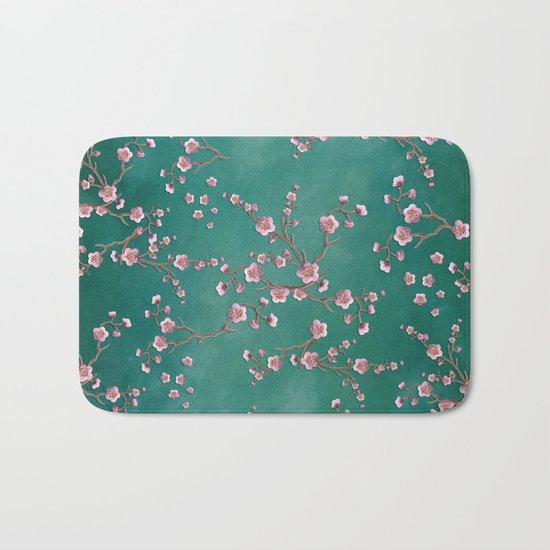 SAKURA LOVE - GREEN Bath Mat