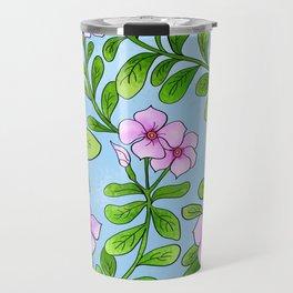 Chocolata floral pattern Travel Mug