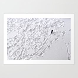 Lonely Snowman Art Print