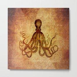 Marine Life - Octopus Metal Print