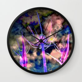 Floral Cloud Drama Wall Clock