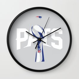 NE Pats Superbowl Wall Clock