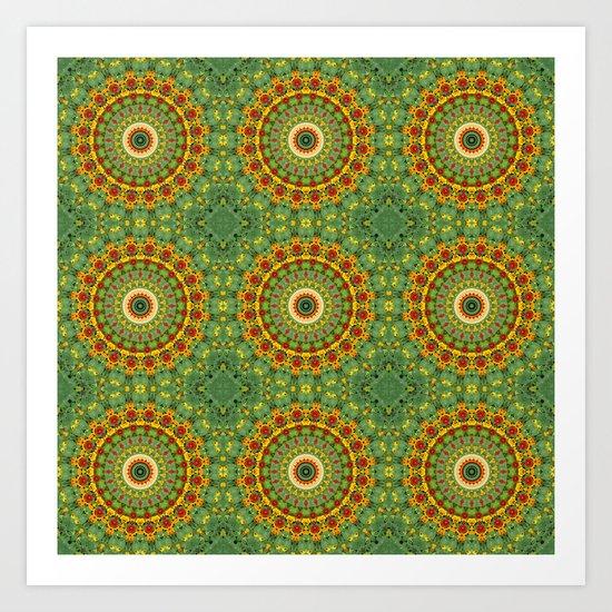 Garden Mandala Pattern Art Print