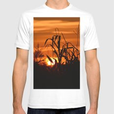 Silhouttes in a Sunrise White Mens Fitted Tee MEDIUM
