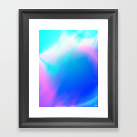 Pastel Vortex Framed Art Print