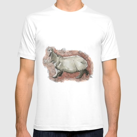 Watercolor Hippo T-shirt