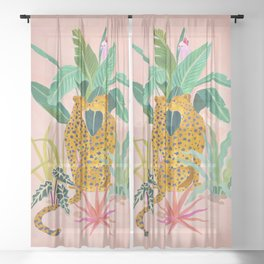 Cheetah Crush Sheer Curtain