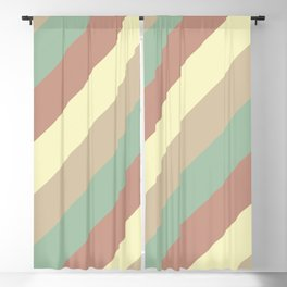 Natural Diagonal Stripe Pattern Blackout Curtain