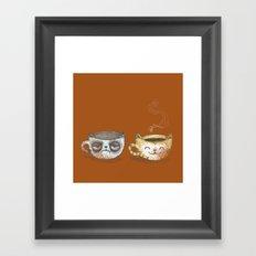 Grumpy Cup, Happy Cup Framed Art Print