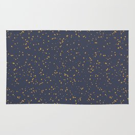 Speckles I: Dark Gold on Blue Vortex Rug