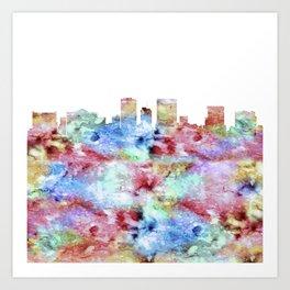 El Paso City Skyline Art Print