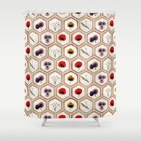 cookies Shower Curtains featuring Cookies by Marta Li