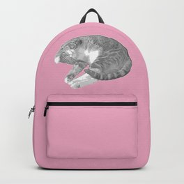Gorgeous Cat Illustration Backpack