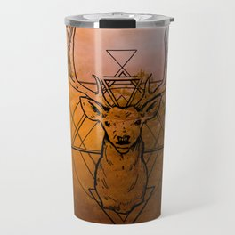 Nature Deer orange Travel Mug