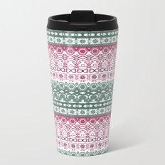 Green pink ornament Metal Travel Mug