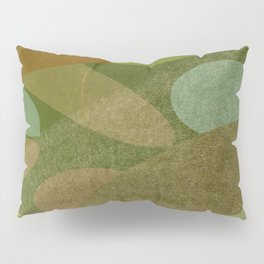 Abstract Autumn Green and Brown Pillow Sham