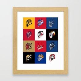 90's Goalie Masks Framed Art Print