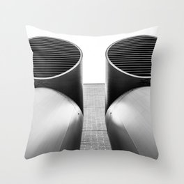 Air - Duct - Pipe Throw Pillow