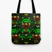 leather Tote Bags featuring Leather Heads by Pepita Selles