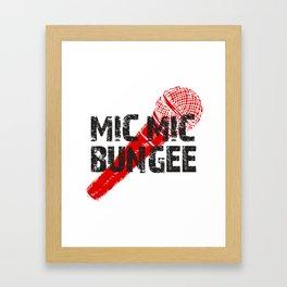 Mic Mic Bungee Framed Art Print