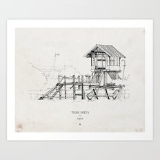 Tigre Delta: Lefted Art Print