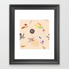 Pirates of the Candibbean  Framed Art Print