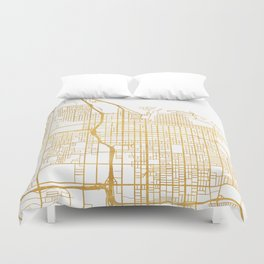 SALT LAKE CITY UTAH CITY STREET MAP ART Duvet Cover