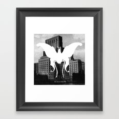 butterfly city Framed Art Print