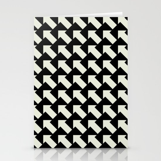 White Arrows Stationery Cards