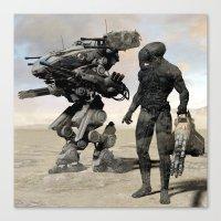kieren walker Canvas Prints featuring Walker by Steve Thorpe