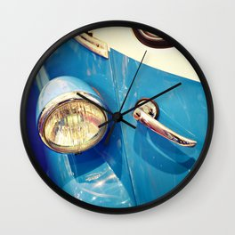 Headlight and handle door of vintage car Wall Clock