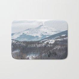 Etna volcano Bath Mat