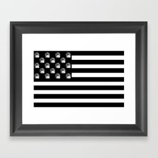US Minifigure Flag - Horizontal Framed Art Print