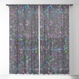 Black Light Color Spray Sheer Curtain