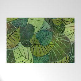 Leaf Pattern Welcome Mat