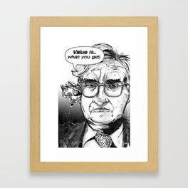 Warren Buffet Framed Art Print