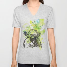 May the Force be with You Yoda Star Wars Unisex V-Neck